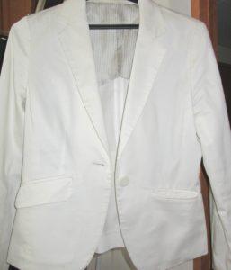 白ジャケット スチーマー使用後