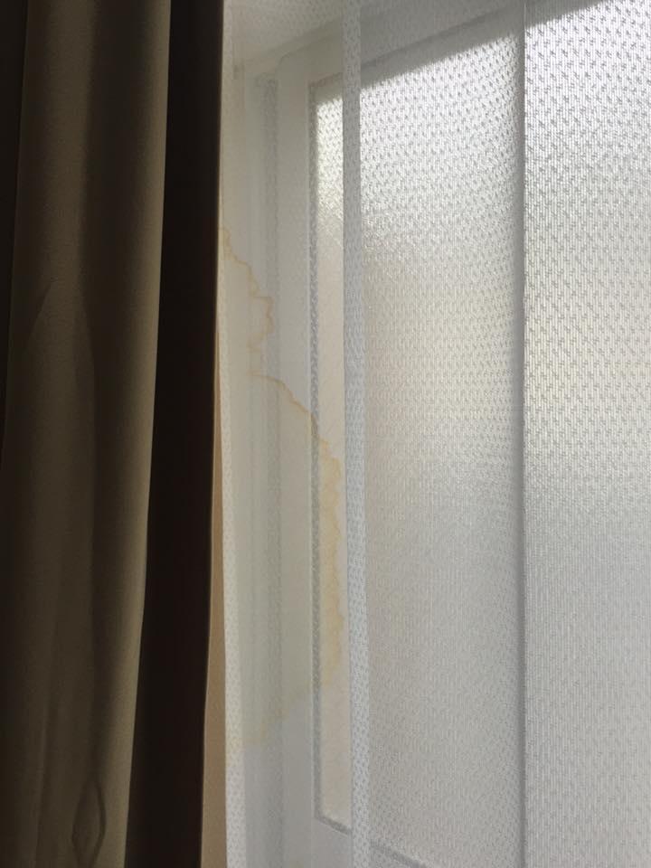 マンスリーマンション カーテンの汚れ